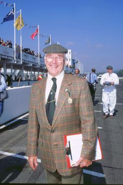 Commentator Murray Walker at 1998 Goodwood revival