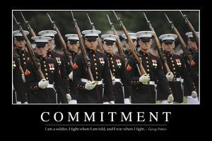 Commitment: Inspirational Quote and Motivational Poster