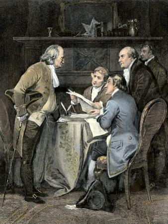 Committee Writing the Declaration of Independence, c.1776