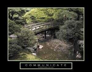 Communicate Bridge over River Motivational