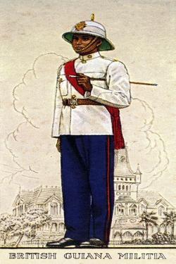 Company Sergeant-Major of the British Guiana Military, 1938