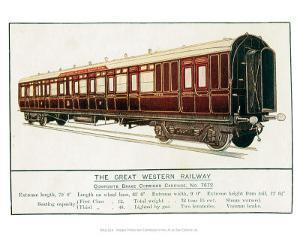 Composite Brake Corridor Carriage No. 7672, Great Western Railway