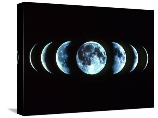 Composite Image of the Phases of the Moon-Dr. Fred Espenak-Stretched Canvas Print