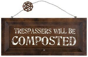 Compost Warning Sign