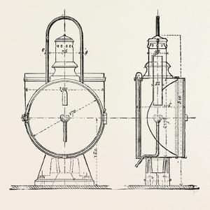 Compressed Oil Gas for Lighting Cars, Steamboats, and Buoys: Locomotive Headlight, 1882