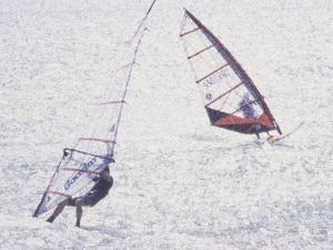 Computer Altered Image of Windsurfers