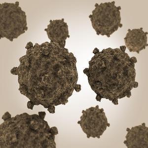 Conceptual Image of Coxsackievirus