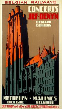 Concerts, Belgian Railways, c.1930s