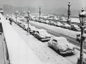 Concorde Square under the Snow in Paris