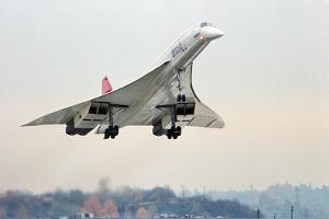 Concorde Supersonic Airliner Landing at Airport