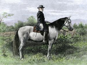 Confederate General Robert E. Lee on His Favorite War-Horse, Traveler