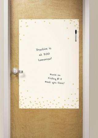 Confetti Cream Dry Erase Messenger Board