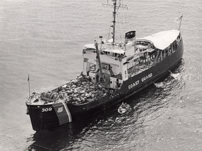 Confiscated Marijuana Aboard Coast Guard Cutter, 1975
