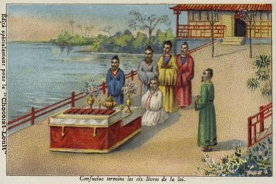 Confucius Completing the Six Books of the Law, China