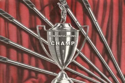 Congratulations Champ, Golf Trophy