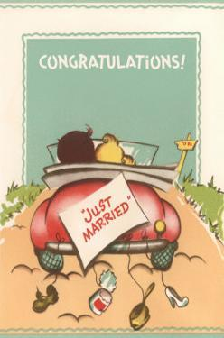 Congratulations, Just Married, Back of Car