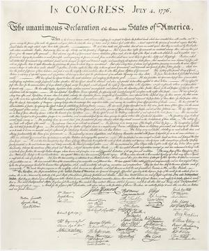 Declaration of Independence by Congress