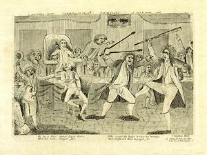 Congressional Pugilists: Griswold and Lyon, at Congress Hall, Philadelphia, Pa, 1798