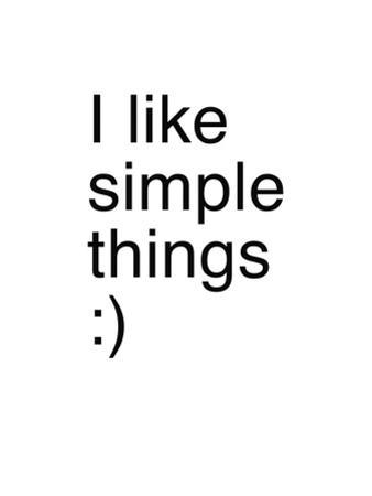 I Like Simple Things by Coni Della Vedova