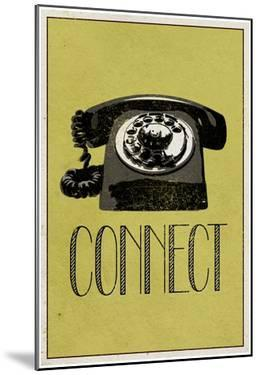 Connect Retro Telephone Player Art Poster Print