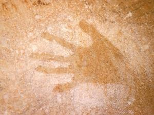 Handprint, Aboriginal Paintings, Raft Point, The Kimberly, Australia by Connie Bransilver