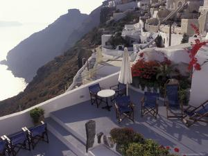 Hotel Between Fira and Imerovigli, Greece by Connie Ricca