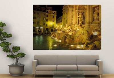 Trevi Fountain at Night, Rome, Italy by Connie Ricca