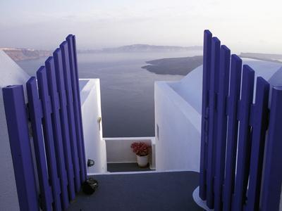 View Toward Caldera, Imerovigli, Santorini, Greece