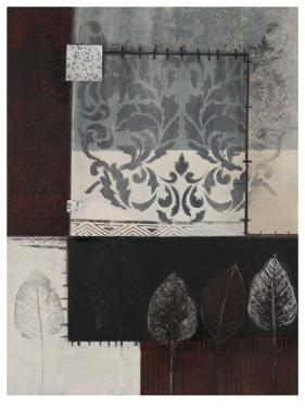 Silver Damask I by Connie Tunick
