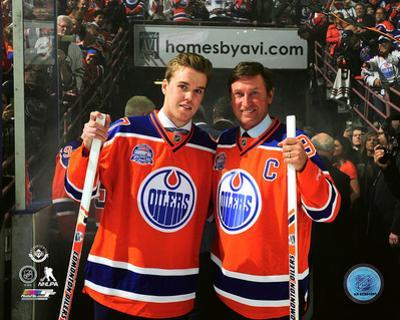 Connor McDavid & Wayne Gretzky Rexall Place Final Game- April 6, 2016