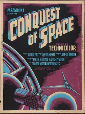 CONQUEST OF SPACE, poster art, 1955.
