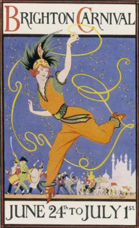Poster for the Brighton Carnival 24 June to 1 July by Conrad Leigh