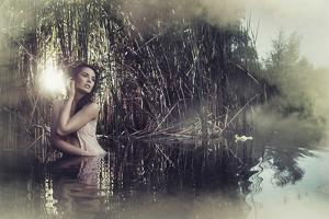 Beautiful Fantasy Woman in Water by conrado