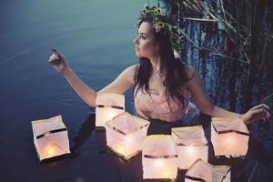 Beautiful Woman as a Water Nymph by conrado