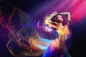 Beauty Woman Wearing Gorgeous Dress by conrado
