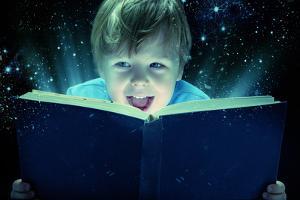 Child Opened a Magic Book by conrado