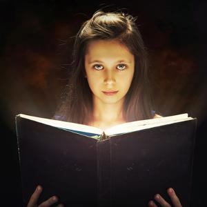 Girl Opened a Magic Book by conrado