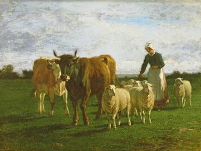 Evening, Driving Cattle, 1859