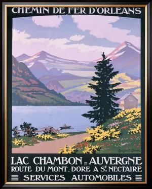 Lac Chambon, Auvergne by Constant Leon Duval