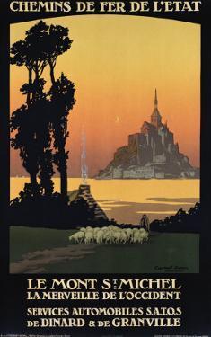 Le Mont St. Michel by Constant Leon Duval
