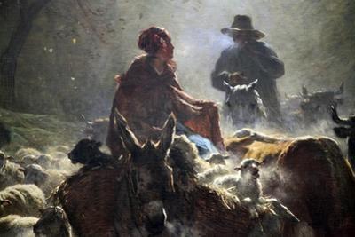 Departure for the Market (Autumn Mornin), 1859