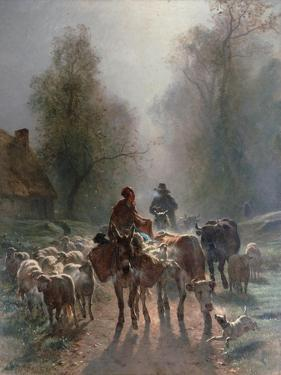 On the Way to the Market, 1859 by Constant Troyon