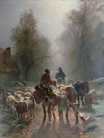 On the Way to the Market, 1859