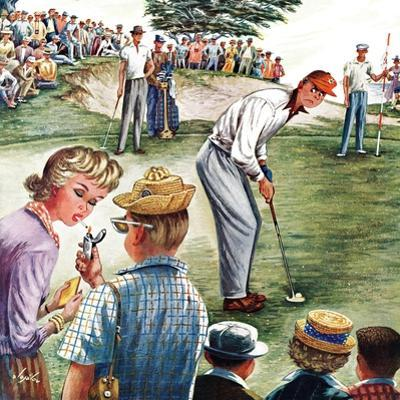 """""""Distracted Pro Golfer,"""" July 2, 1960 by Constantin Alajalov"""