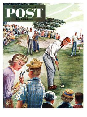 """Distracted Pro Golfer,"" Saturday Evening Post Cover, July 2, 1960 by Constantin Alajalov"