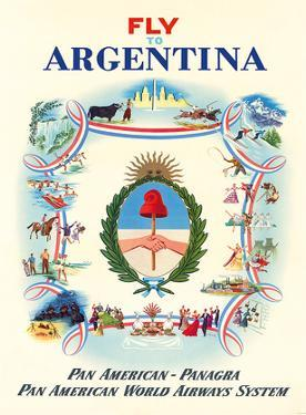 Fly to Argentina - Pan American-Panagra - Pan American World Airways System by Constantin Alajálov