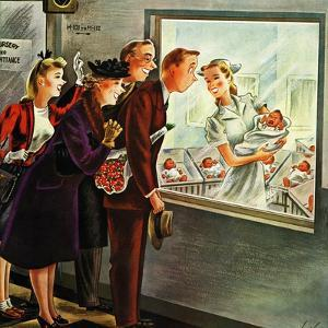 """Maternity Ward,"" November 2, 1946 by Constantin Alajalov"