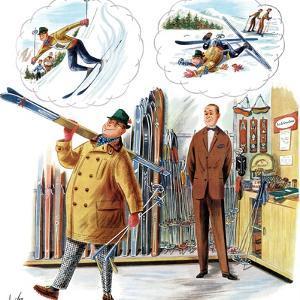 """New Skier,"" March 4, 1961 by Constantin Alajalov"