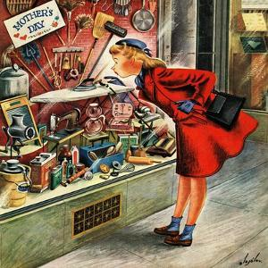 """""""Shopping for Mother's Day,"""" May 10, 1947 by Constantin Alajalov"""