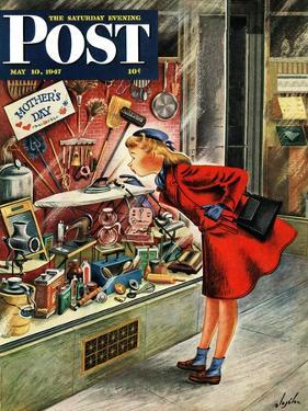 """""""Shopping for Mother's Day,"""" Saturday Evening Post Cover, May 10, 1947 by Constantin Alajalov"""